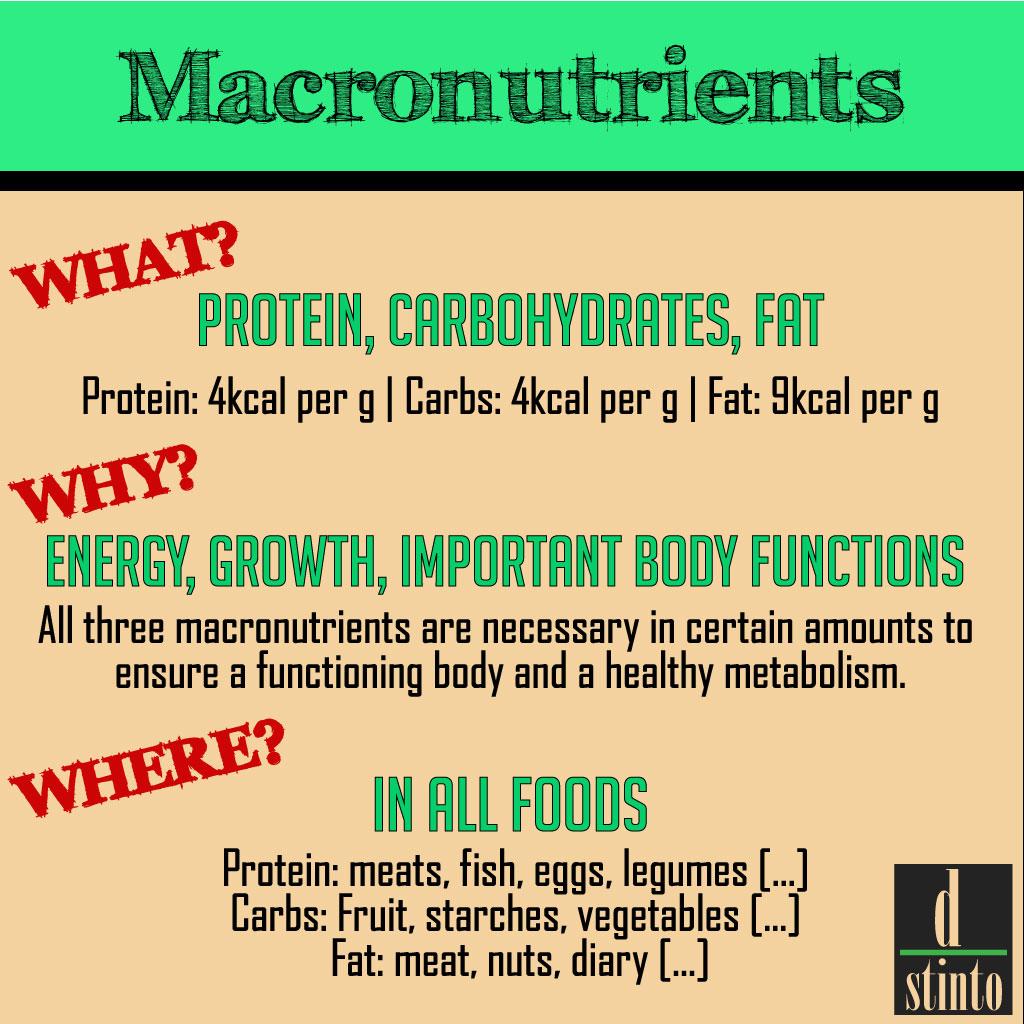 Apa itu makronutrient, sumber untuk makronutrient