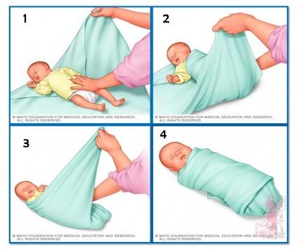 Cara untuk bedung bayi