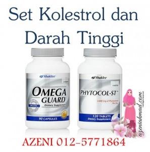 Set Kolestrol dan Tekanan Darah Tinggi dirawat dengan Omega Guard Dan Phytocol