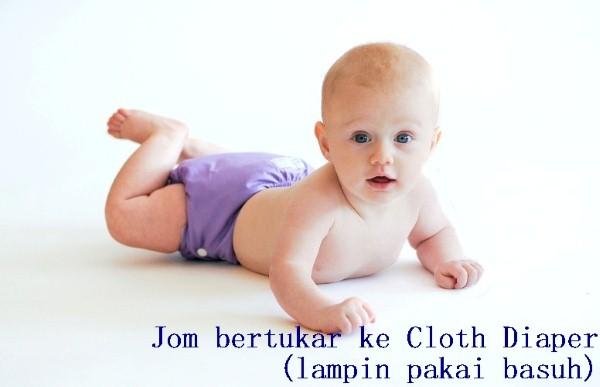 Cloth diaper, Lampin pakai basuh, Cloth diaper lebih ,enjimatkan dan mudah digunakan, cloth diaper luantots