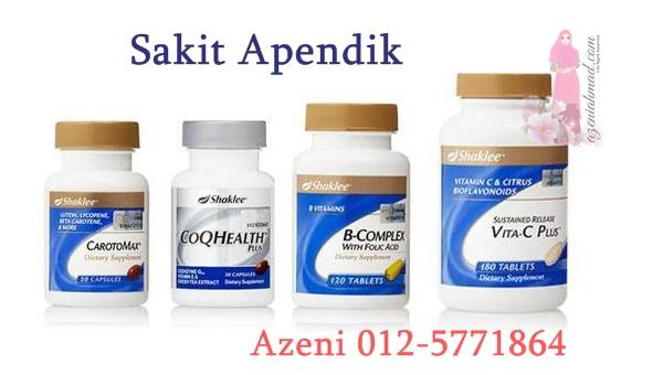 Vitamin shaklee untuk sakit apendik