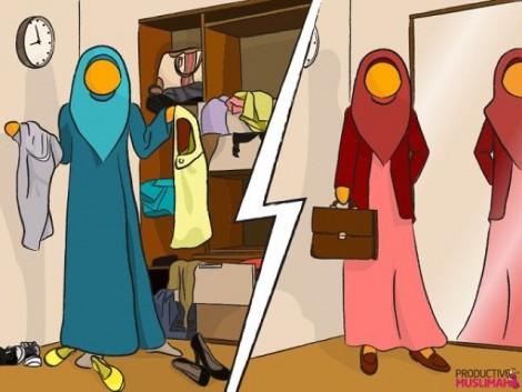 Buat persediaan pakaian dan barang untuk bekerja malam ahad