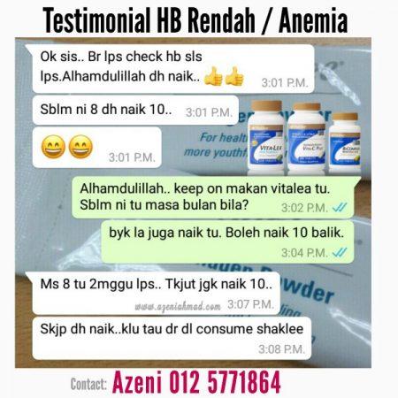 testimonial anemia ataupun hb rendah