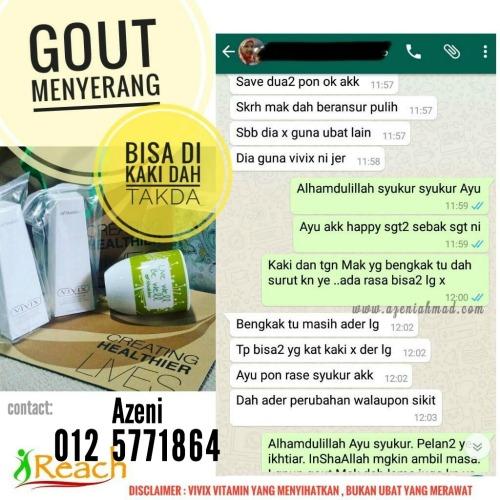 testimonial gout dengan vivix