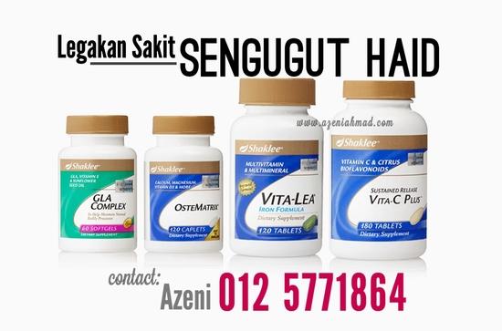 Suplemen untuk sakit sengugut haid